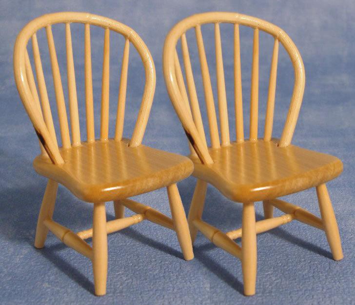 Amerikanische Spindle Back Stuhle 2er Pack Das Puppenhaus 1zu12