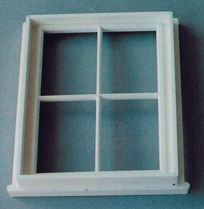 Sprossenfenster kunststoff  Sprossenfenster, weiß, Kunststoff - Das Puppenhaus 1zu12