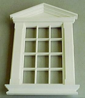 Sprossenfenster kunststoff  Weisses Kunststoff-Sprossenfenster - Puppenhauszubehör 1zu12