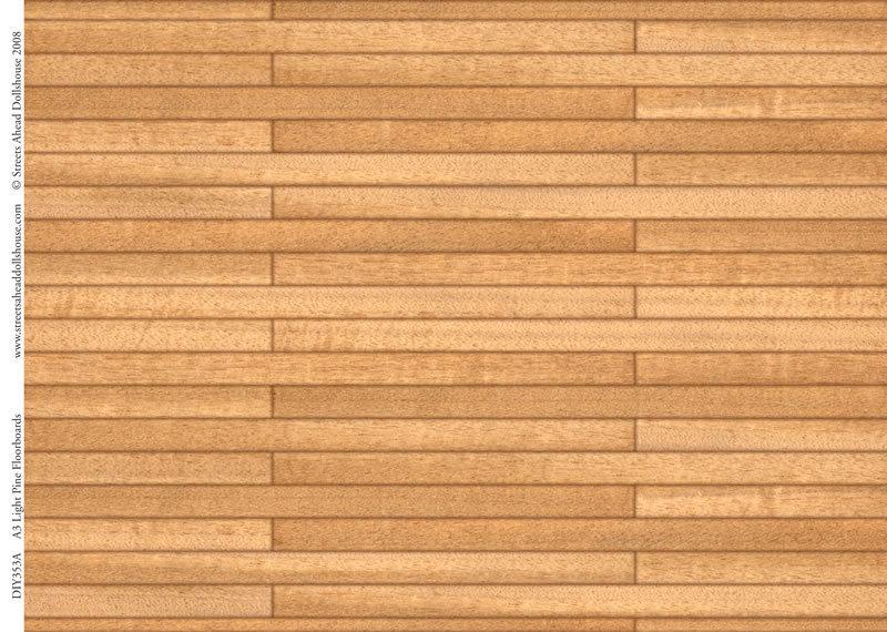Papierbogen Holzboden Eiche Hell Das Puppenhaus 1zu12
