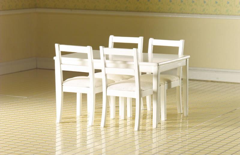 Esszimmer, Modern, Weiss, 5 Teile