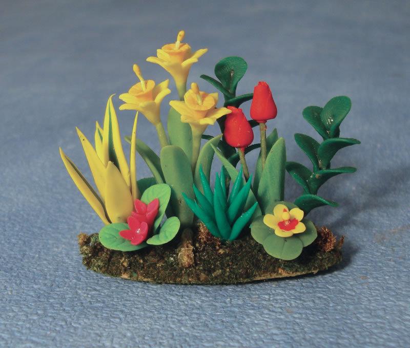 Blumenbeet das puppenhaus 1zu12 for Blumenbeet neu gestalten pflanzen
