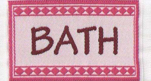 "Badematte rosa ""BATH"""