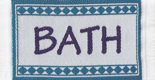 "Badematte ""Bath"", blau"