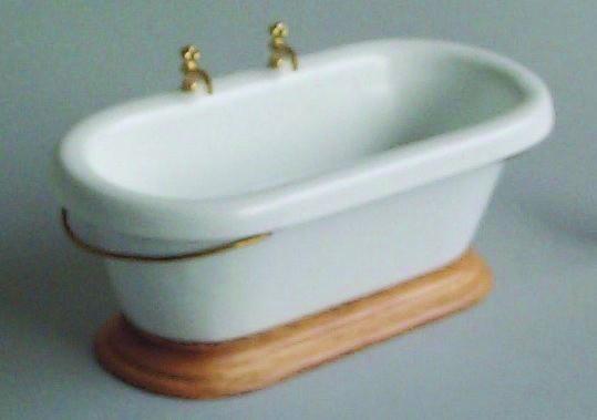 badewanne aus holz wei puppenhaus holz zubeh r 1zu12. Black Bedroom Furniture Sets. Home Design Ideas