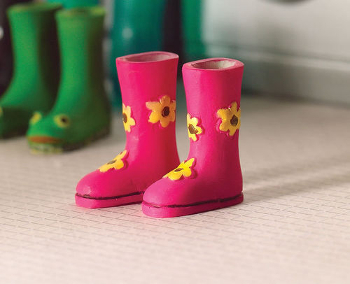 "Gummistiefel aus Resin - ""Flower Power"""